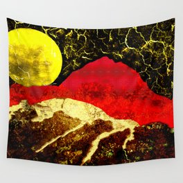 Storm on Red Mountain Wall Tapestry