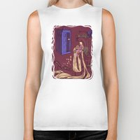 blondie Biker Tanks featuring You Comin' Blondie?  by Karen Hallion Illustrations