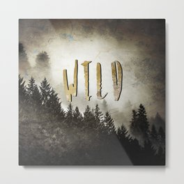 Wild Gold Forest Metal Print