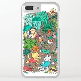 Camping Trip Clear iPhone Case
