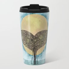 Sunset Whale Travel Mug