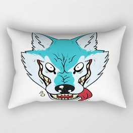 Who's Afraid of the Big Blue Wolf Rectangular Pillow