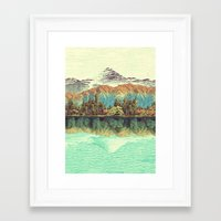 mountain Framed Art Prints featuring The Unknown Hills in Kamakura by Kijiermono