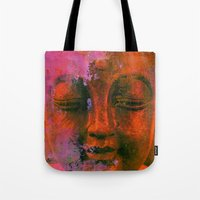 meditation Tote Bags featuring Meditation by zAcheR-fineT