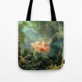 The Swing by Jean-Honoré Fragonard Tote Bag