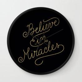 Miracles Gold Wall Clock