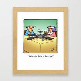 Handyman Home Improvement Spectickles Cartoon Framed Art Print