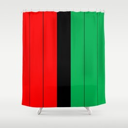 Kwanzaa Red Black Green Stripes Shower Curtain