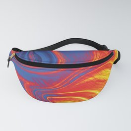 Fire and Ice Swirl Marble (Red, Orange, Blue) Fanny Pack