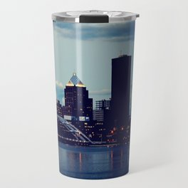Rochester NY at Dusk Travel Mug