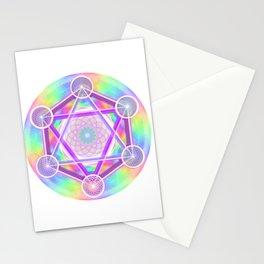 Rainbow Net Metatron Stationery Cards
