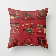 TWIN PEAKS MATCHBOOK SERIES Throw Pillow