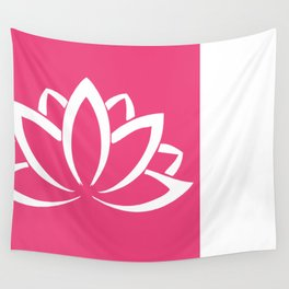 The white lotus Wall Tapestry
