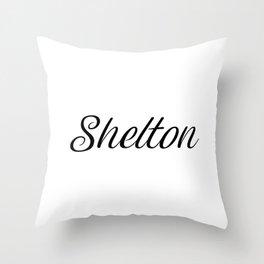 Name Shelton Throw Pillow