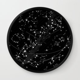 Vintage star map Wall Clock