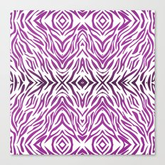 Purple Zebra Pattern Canvas Print