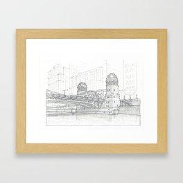 Chicago - LaSalle Bridge Framed Art Print