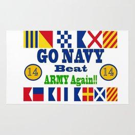 Go Navy, Beat Army - AGAIN! Rug