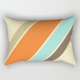 Retro Stripes Rectangular Pillow
