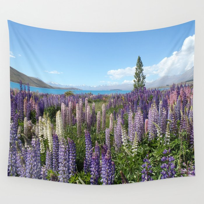 Lupine Field Wall Tapestry