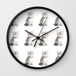 Kittens Forever Wall Clock