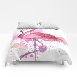 Pretty Flamingo Comforters