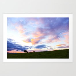 Sonoma County Sunset Art Print