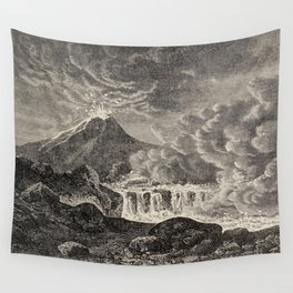 The infinitely great and the infinitely little - Félix Pouchet - 1874 Ink Volcano Illustration Wall Tapestry