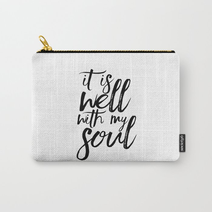 image relating to It is Well With My Soul Printable named BIBLE VERSE It Is Effectively With My Soul Bible Include Bible Verse Wall Artwork Printable Artwork Bible Verse Indicator Convey-All Pouch