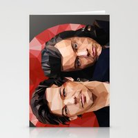 larry Stationery Cards featuring Polygonal Larry by Peek At My Dreams
