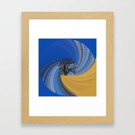 Prairie oak swirl Framed Art Print