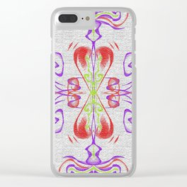 2 Hearts beating Clear iPhone Case