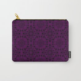 Plum Purple Lace Carry-All Pouch