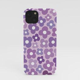 Funky Purple Flower Power iPhone Case