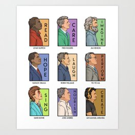 He Series - Real Men Collage Art Print