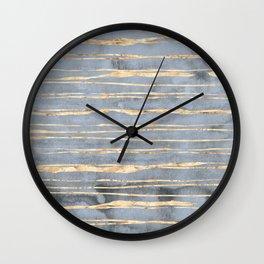 Watercolor Gradient Gold Foil III Wall Clock