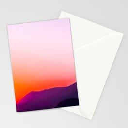 Hollywood sign with summer sunset sky Stationery Cards