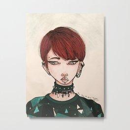Kpop Inspired Metal Print