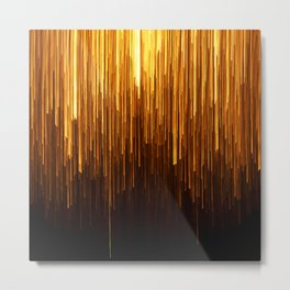 Golden Rain Deco Modern Metal Print