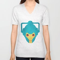 Colorful Cyberman Doctor Who Unisex V-Neck