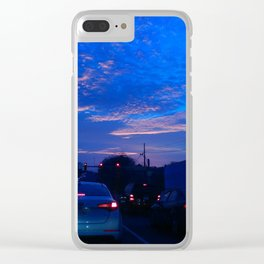 Blue Highway Clear iPhone Case