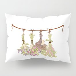 herbs in pastel colors . Pillow Sham