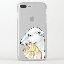 Winter, the Polar Bear God Clear iPhone Case