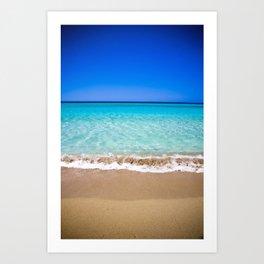 Beach on Crete Art Print