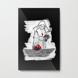 Nun Drawing Metal Print