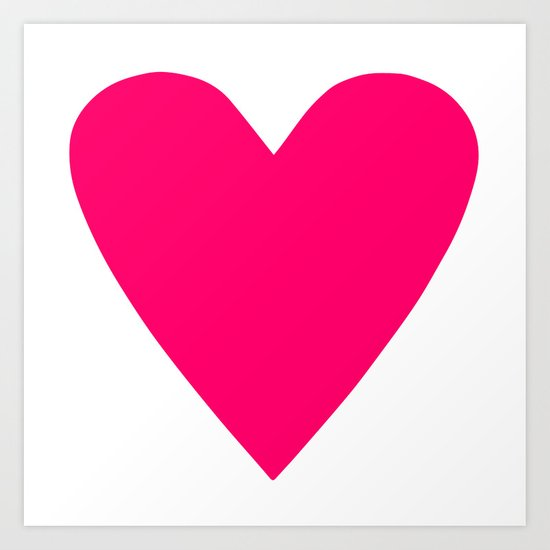 Neon Pink Heart by caitlincrowley