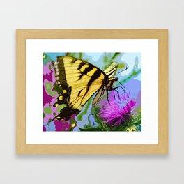 Yellow butterfly beauty 2 Framed Art Print