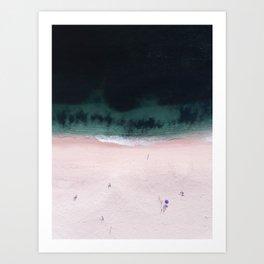 The purple umbrella Art Print