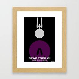 Trek XII: Into Darkness Framed Art Print