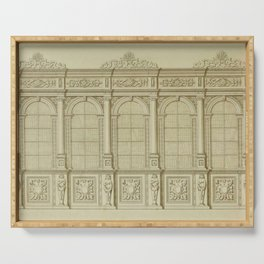 Classical Library Architecture Serving Tray